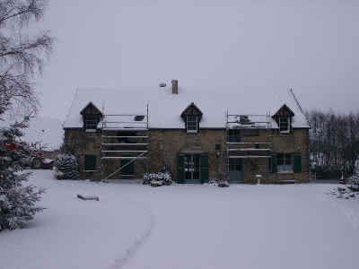 House in snow, March 2005