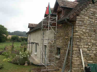 Our French house - lime mortar, repointing French masonry